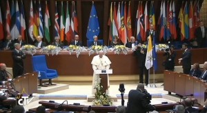 Papa Francesco al Consiglio D'Europa