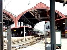 La stazione ferroviaria di Strasburgo, lungo la strada fra Milano e Bruxelles