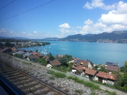 Dal finestrino dell'Eurocity Milano - Basilea