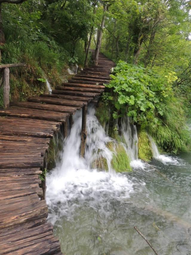 Il parco di Plitvice, nella krajina, la parte della Croazia dove avvennero i massacri