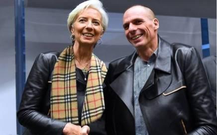 Il rapporto fra Christine Lagarde dell'Fmi e Yanis Varoufakis, ministro delle finanze greco è peggiorato in poco tempo (foto: Eunews)