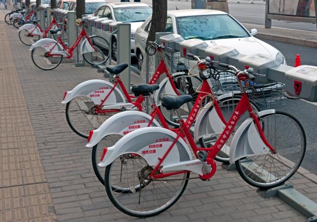 Il bike-sharing è un esempio di economia della condivisione (foto:Wikipedia)