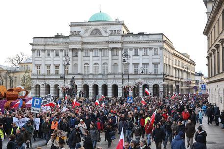 Defense of Democracies 'CODE' demonstration in Warsaw